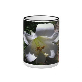 Easter Lily Shadow Mugs