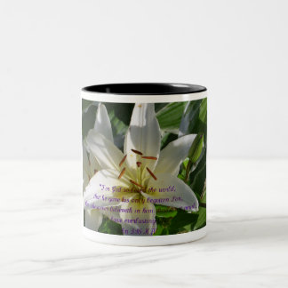 Easter Lily Two-Tone Mug