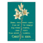 Easter Lily with Blackburn quote Card