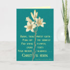 Easter Lily with Blackburn quote Christmas Card