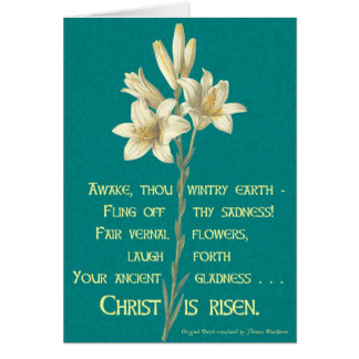 Easter Lily with Blackburn quote Greeting Card