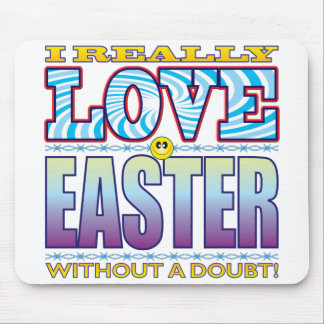 Easter Love Face Mouse Pad