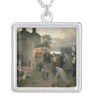 Easter Matins Silver Plated Necklace