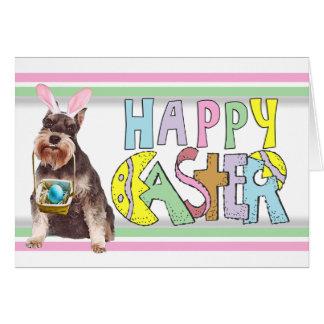 Easter Miniature Schnauzer Card