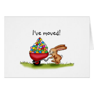 Easter Moving Announcements - Easter Bunny Greeting Card