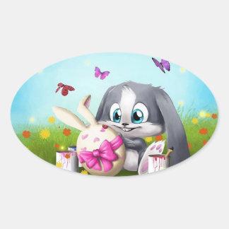 Easter Oval Sticker