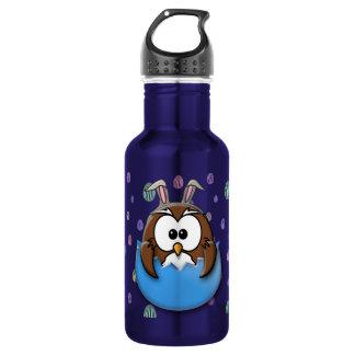 Easter owl - blue 532 ml water bottle