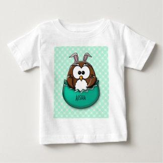 Easter owl - green t-shirt