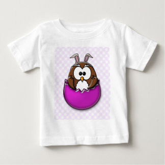 Easter owl - pink baby T-Shirt