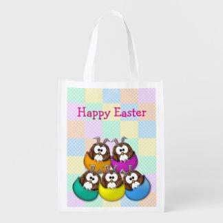 Easter owl - rainbow