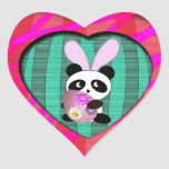 Easter Panda Heart Sticker