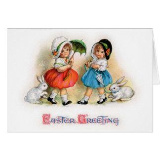 Easter Parade Cuties Greeting Card