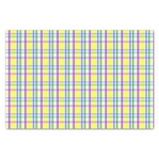 Easter Pastel Plaid Pattern Tissue Paper