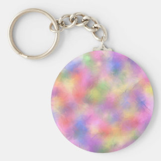 Easter pastels basic round button key ring