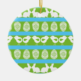 Easter pattern. Any background color Round Ceramic Decoration