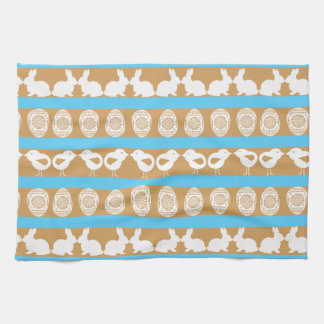 Easter pattern. Any background color Tea Towel
