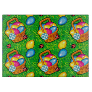 Easter pattern with ladybugs cutting boards