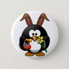 Easter Penguin 6 Cm Round Badge