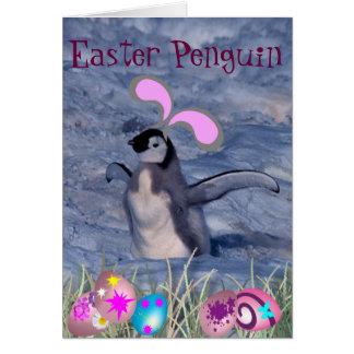 Easter Penguin Greeting Card