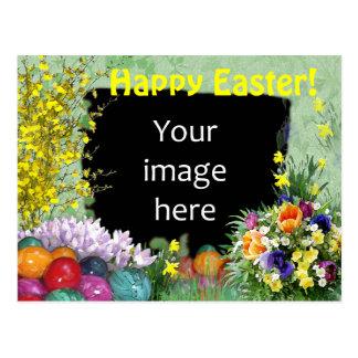 Easter photo frame postcard