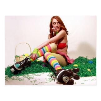 Easter Pin Up Postcard