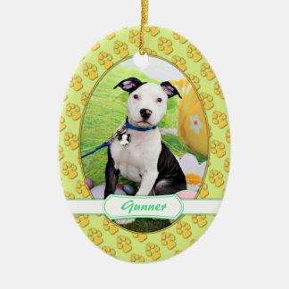 Easter - Pitbull  - Gunner Christmas Ornament