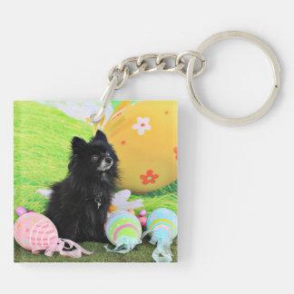 Easter - Pomeranian - Bear Acrylic Key Chain