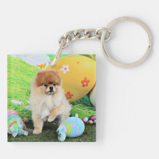 Easter - Pomeranian - Dexter Keychains