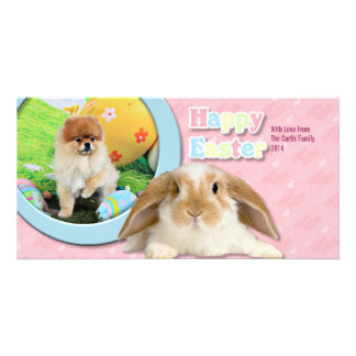 Easter - Pomeranian - Dexter Photo Greeting Card