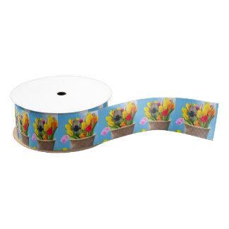 Easter Pomeranian Dog grosgrain ribbon