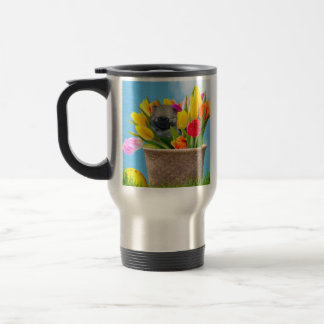 Easter pomeranian puppy stainless steel travel mug