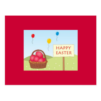 Easter Postcard in Red