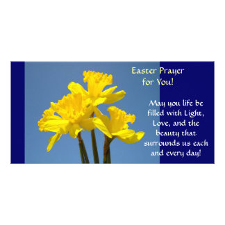 Easter Prayer Cards Daffodils Flowers Spring Picture Card