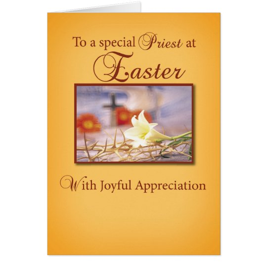 Easter Priest Appreciation Card