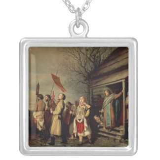 Easter Procession, 1861 Silver Plated Necklace