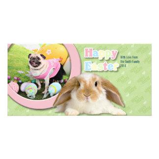 Easter - Pug -Hannah Photo Cards