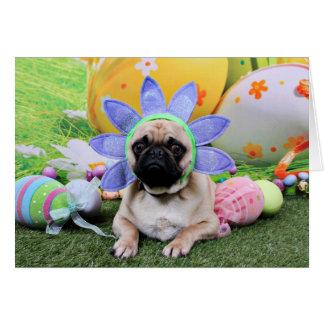 Easter - Pug - Louie Card