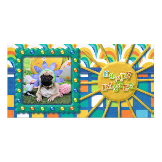 Easter - Pug - Louie Photo Card Template
