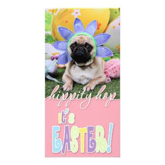 Easter - Pug - Louie Photo Card