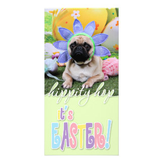 Easter - Pug - Louie Picture Card