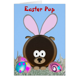 Easter Pup Greeting Card