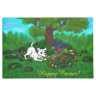 Easter - Puppy Capo and Butterfly Doormat