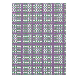 Easter purple and green plaid tablecloth