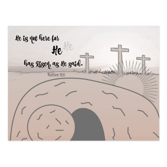 Easter Quote Bible Verse Postcard
