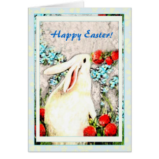 Easter Rabbit Bunny Hare Card