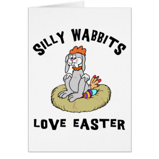 Easter Rabbit Love Easter Greeting Card