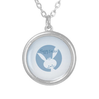 Easter Rabbit Silver Plated Necklace