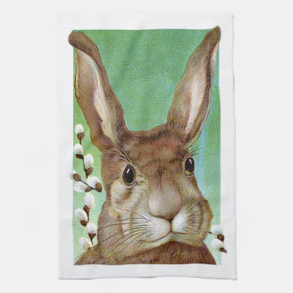 Easter Rabbit Tea Towel