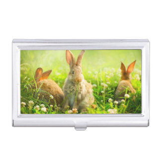 Easter Rabbits Business Card Holder