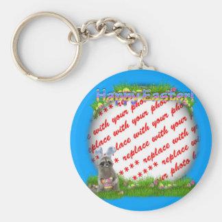 Easter Raccoon Bandit Photo Frame Keychain
